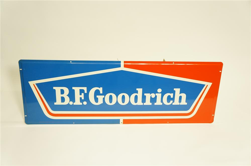 Large N.O.S. 1960s B.F. Goodrich horizontal tin garage sign. - Front 3/4 - 125503