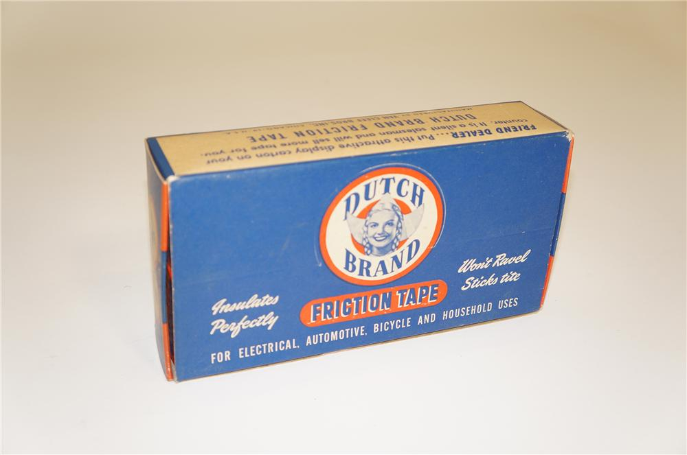 N.O.S. 1940s Dutch Brand Automotive Friction Tape counter-top display box still full of unused product. - Front 3/4 - 125514