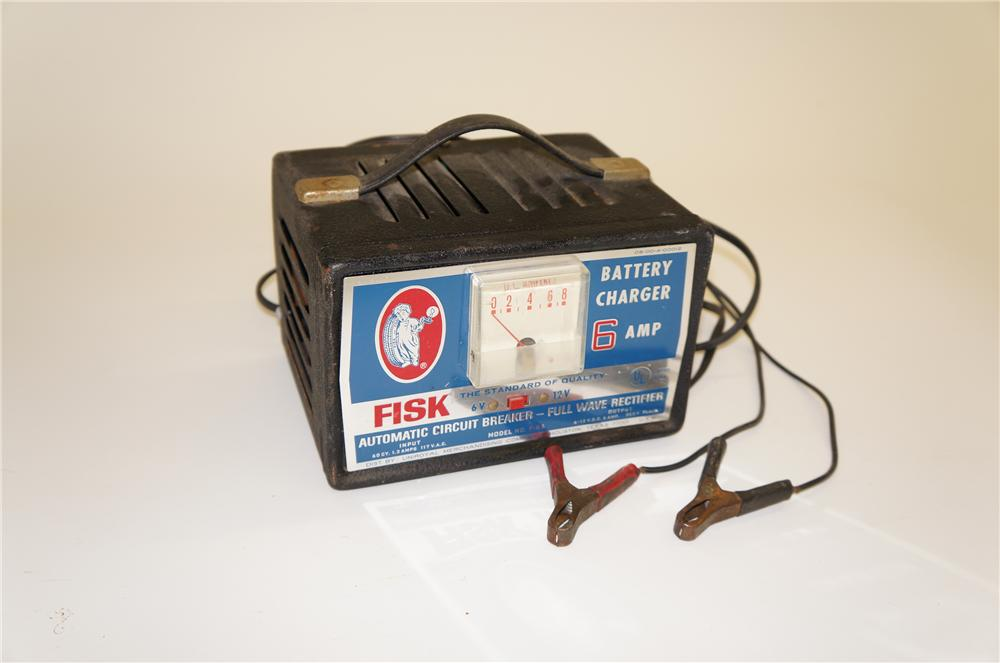 Nifty 1950s Fisk Tires 6 amp portable automotive battery charger. - Front 3/4 - 125517