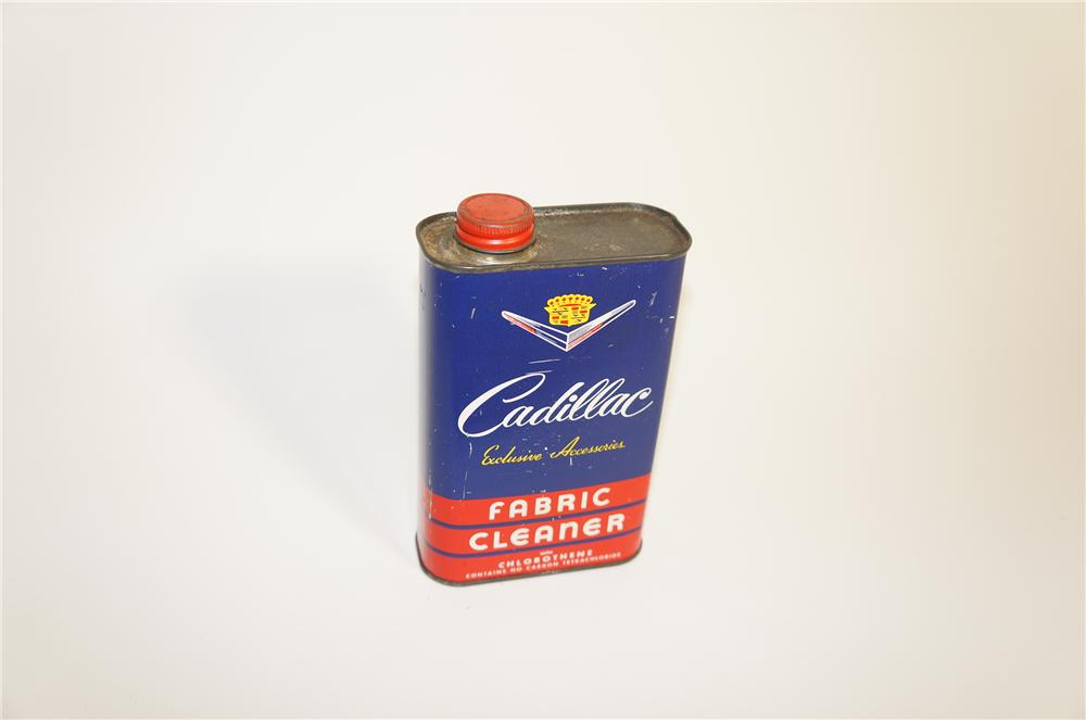 Rare 1940s-50s Cadillac Fabric Cleaner service department tin.  An incredible find. - Front 3/4 - 125589