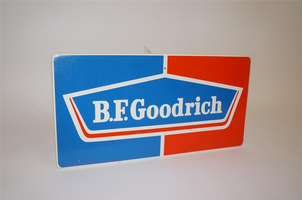 N.O.S. 1960s B.F. Goodrich Horizontal tin painted garage sign. - Front 3/4 - 130476