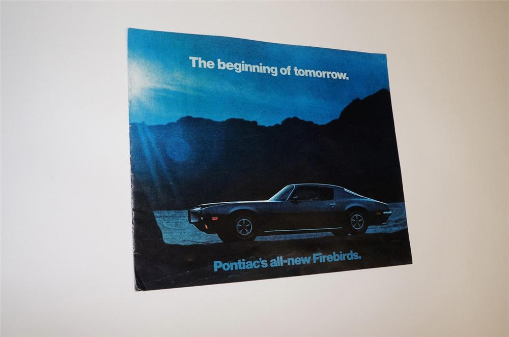 N.O.S. 1970 Pontiac All-New Firebirds twenty page color showroom sales brochure. - Front 3/4 - 130490