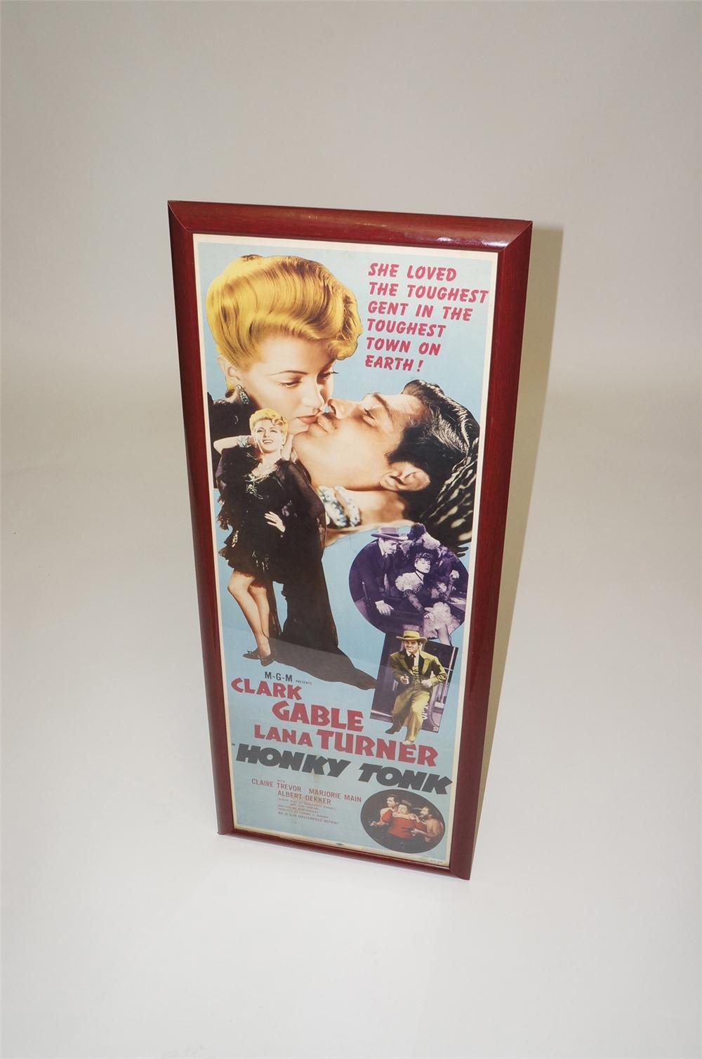 "Original 1955 MGM Pictures ""Honky Tonk"" movie poster starring Clark Gable and Lana Turner. - Front 3/4 - 130520"