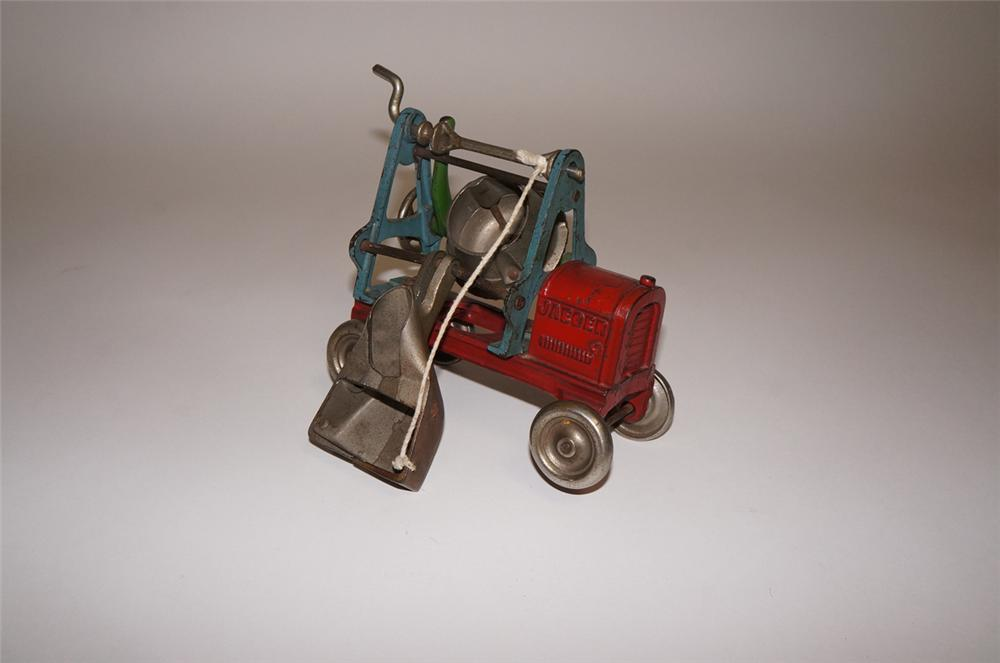 Early 1930s Kenton Jaeger cast iron cement mixer toy truck.  Appears to have had the lightest of use. - Front 3/4 - 130599