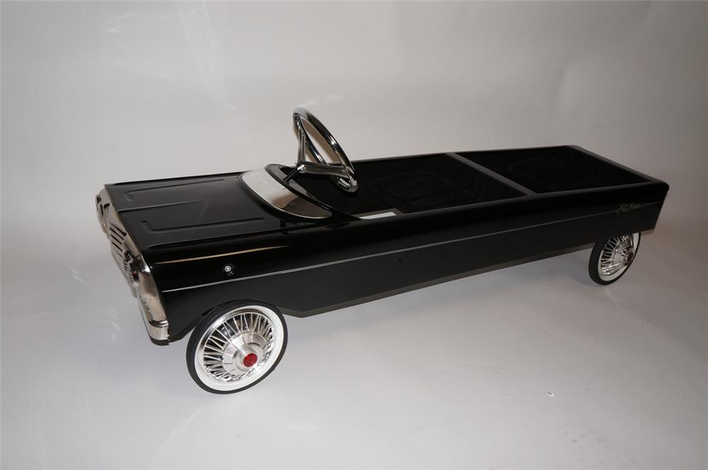 "Late 1950s-60s Murray pedal car custom made into a little stretch limo a.k.a. ""Lil Limo"". - Front 3/4 - 130605"