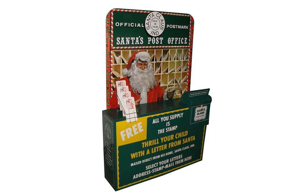 Rare 1950s Esso Oil Santas Post Office all metal service station display. - Front 3/4 - 130607