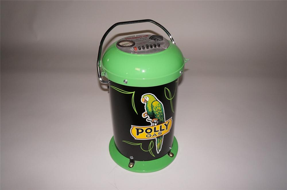 Interesting 1950s Polly Oil Marquette service department portable battery charger. - Front 3/4 - 130628