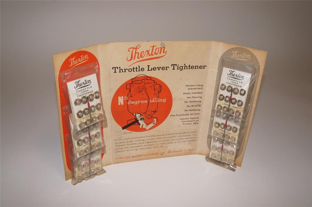N.O.S. 1930s Thexton Automotive Throttle Lever Tighteners service department counter-top display - Front 3/4 - 130650
