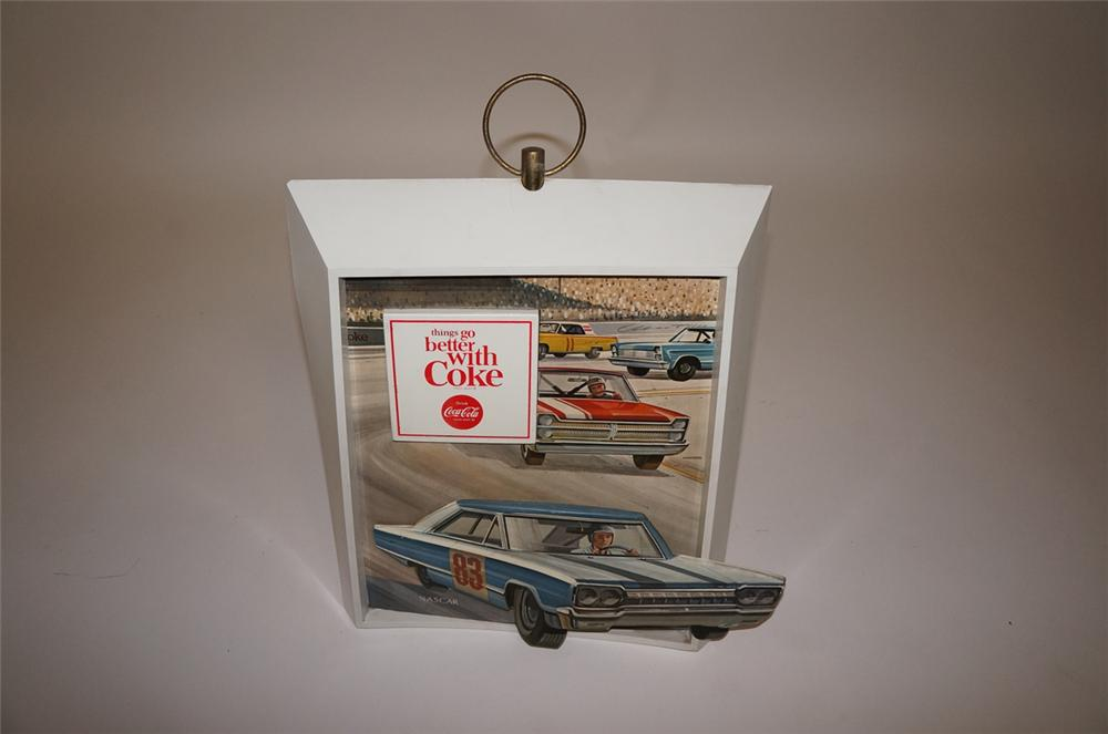 Scarce mid-1960s Coca-Cola Nascar racing three-dimensional soda fountain sign. - Front 3/4 - 130679