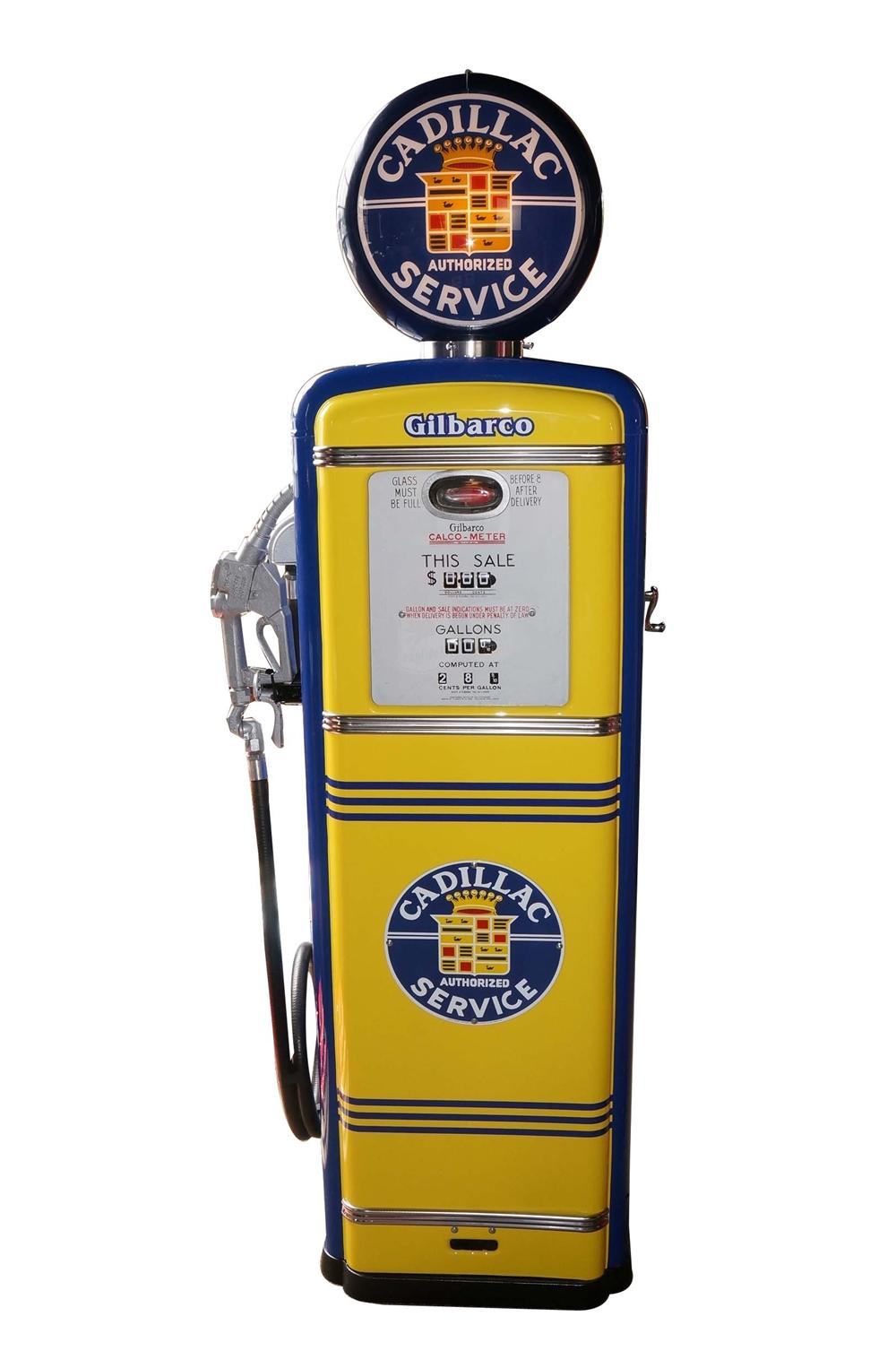 Amazing late 1940s-50s restored Cadillac dealership Gilbarco gas pump. - Front 3/4 - 130706