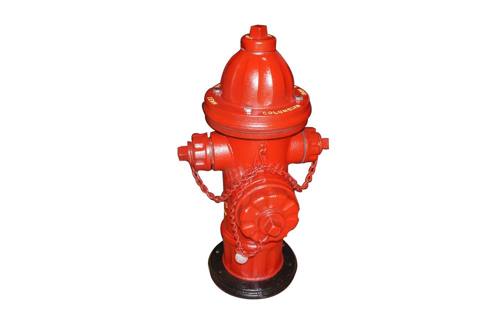 Neat vintage fire hydrant made by the Columbian Iron Works of Chattanooga, TN. - Front 3/4 - 130740