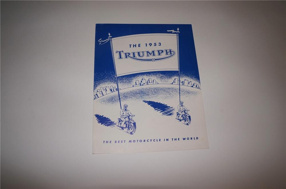 N.O.S. 1953 Triumph Automobiles showroom sales brochures. - Front 3/4 - 130758