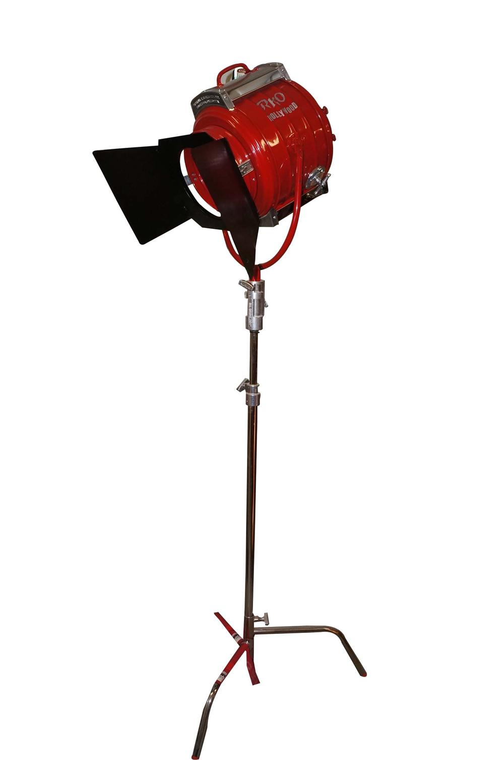 Stellar 1930s RKO Radio Pictures restored motion picture studio stage light. - Front 3/4 - 130768
