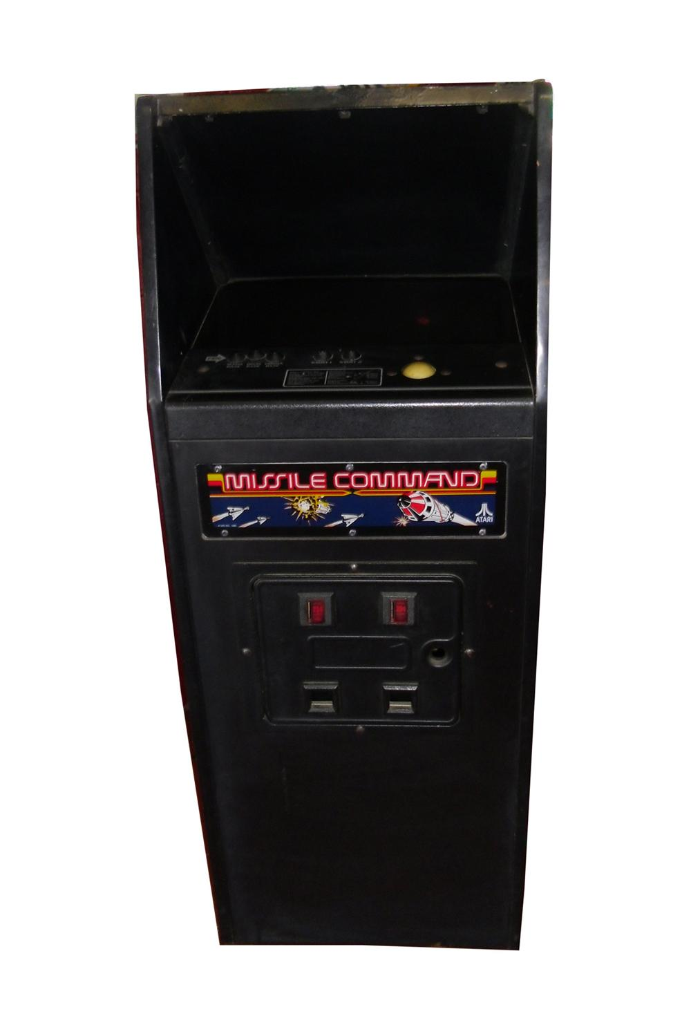 Original 1980 Atari Missile Command video arcade game. Works excellent! - Front 3/4 - 130856