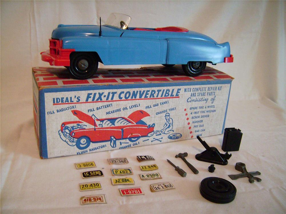 "N.O.S. 1953 Ideal Toys ""Fit-It"" Cadillac Convertible still in the original box! - Front 3/4 - 130880"
