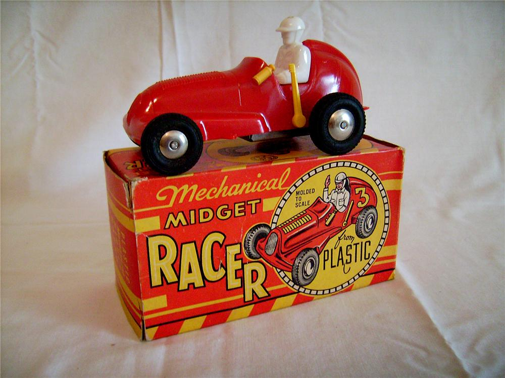 Incredible 1950s Louis Marx Midget racer still in the original box! - Front 3/4 - 130886