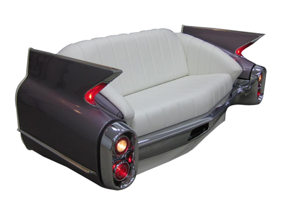 Phenomenal 1960 Cadillac rear end cleverly restored into a couch. - Front 3/4 - 131737