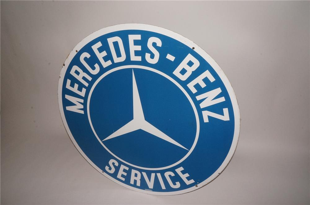 Highly desirable 1950s Mercedes-Benz Service double-sided porcelain dealership sign. - Front 3/4 - 132992