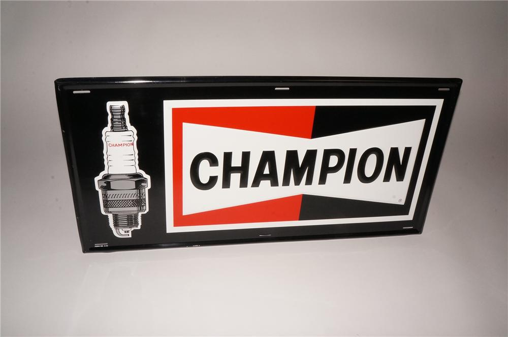 Car Auction Online >> Unusual version N.O.S. Champion Spark Plugs embossed tin sign