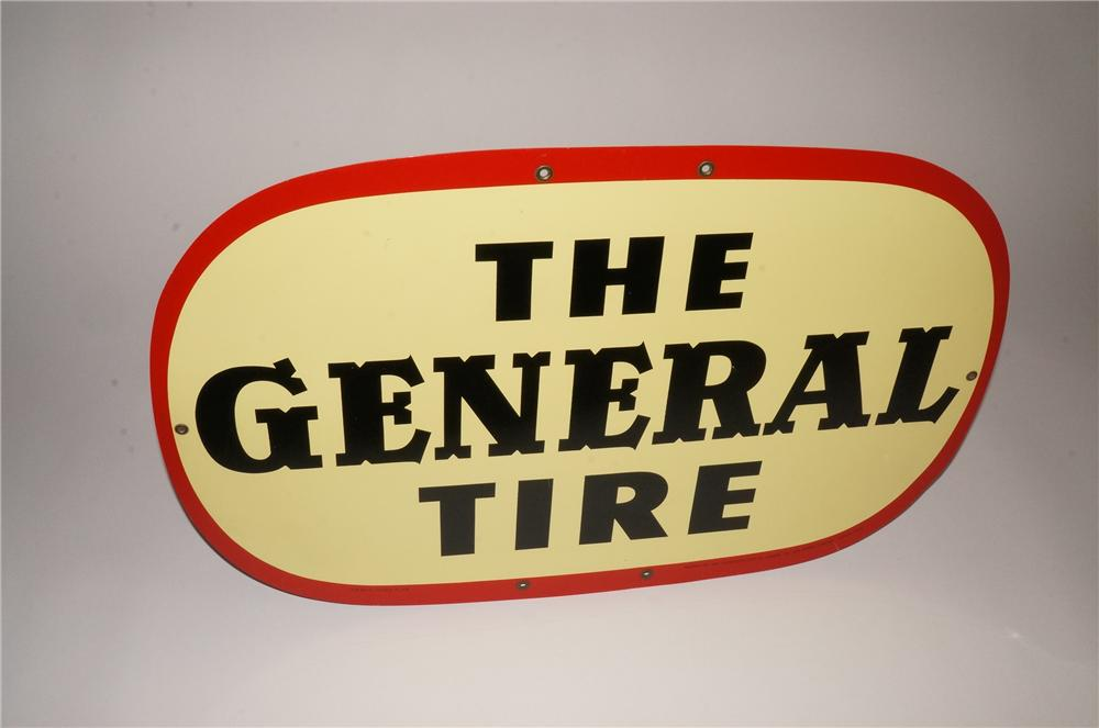 1959 The General Tire single-sided tin painted garage sign. - Front 3/4 - 133123