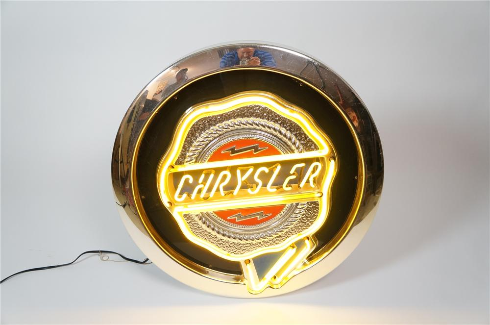 Late model Chrysler Automobiles neon showroom sign. - Front 3/4 - 133233