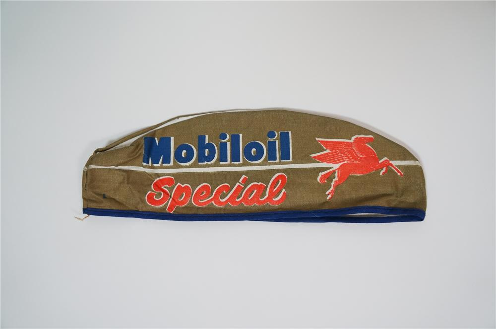 N.O.S. late 1950s MobilOil Special service station attendants hat. - Front 3/4 - 133245