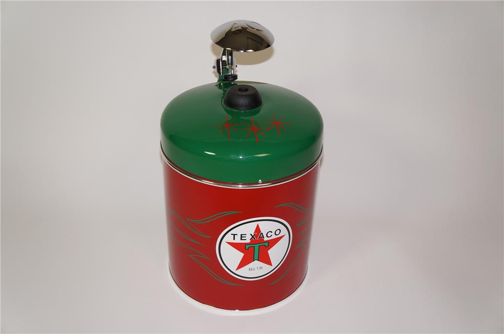 Exquisite 1930s-40s AC Spark Plugs Texaco Oil restored counter-top spark plug cleaner/servicer. - Front 3/4 - 133281