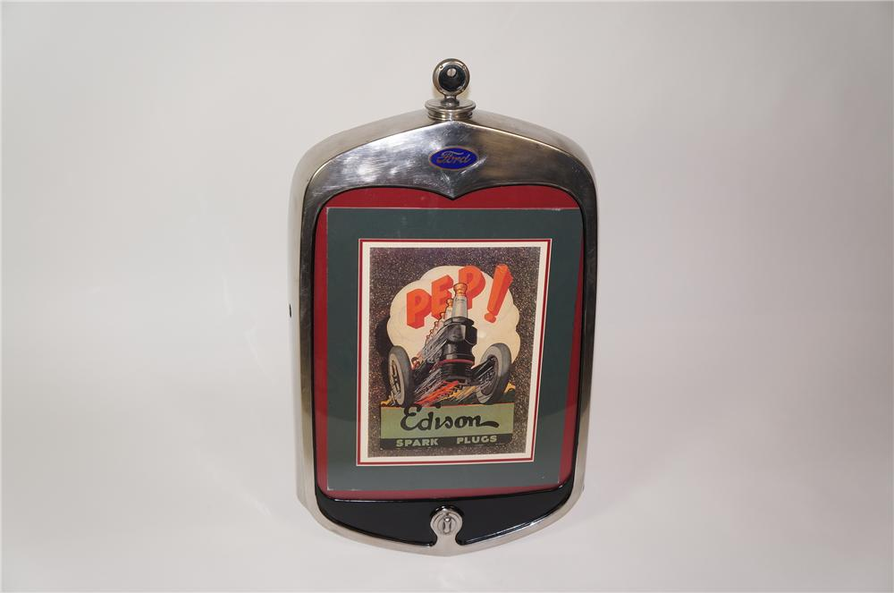 Very cool original 1930s Ford Radiator grill with Boyce Meter mascot converted for photo/art display. - Front 3/4 - 133311