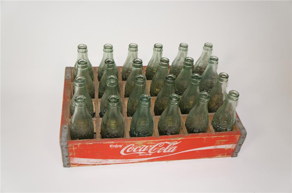 Case of 1950s Coca-Cola embossed glass bottles all from various plants. - Front 3/4 - 133330