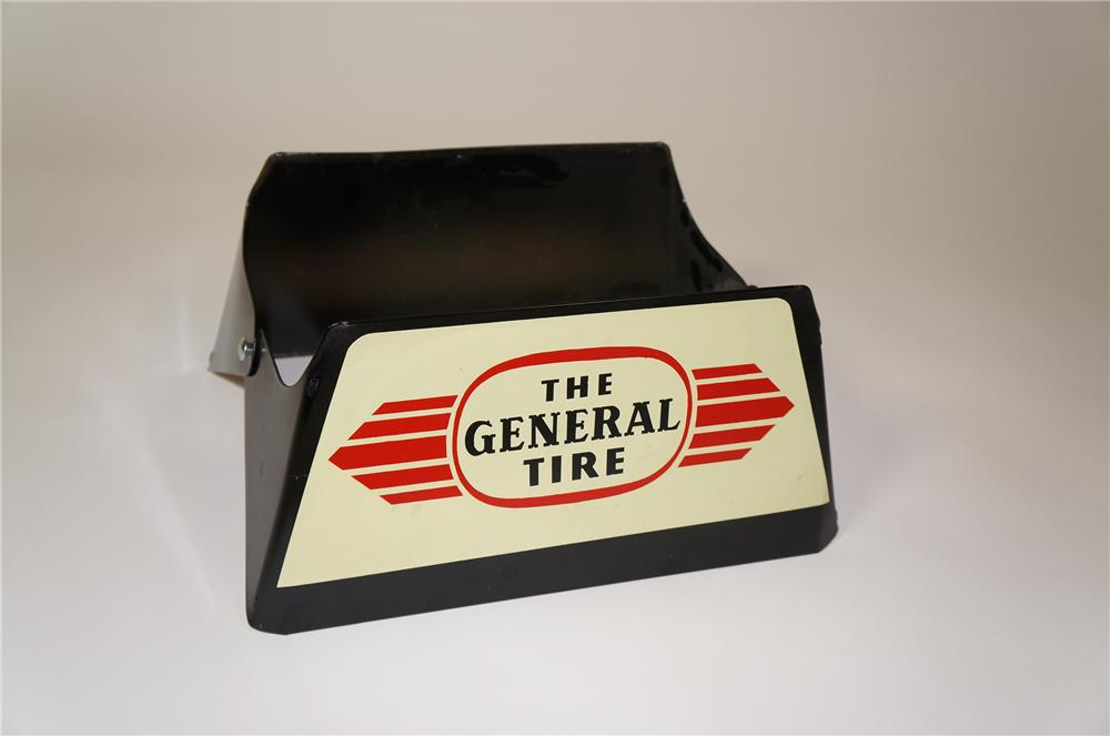 Nifty N.O.S. 1950s-60s The General Tire automotive garage metal tire display/sign. - Front 3/4 - 133336