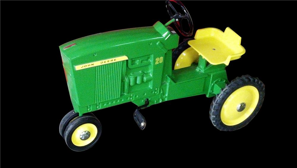 Hard to find vintage John Deere 20 restored pedal tractor.  Restored to day one condition! - Front 3/4 - 133362