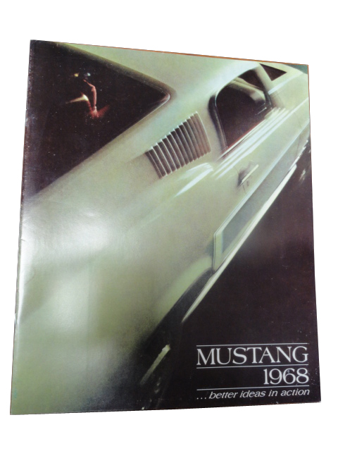 Desirable 1968 Ford Mustang color sales brochure. - Front 3/4 - 133377