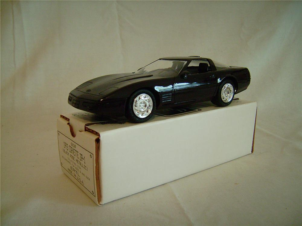 N.O.S. 1993 Chevrolet Corvette ZR-1 dealer promotional model in black rose metallic.  Still in the box! - Front 3/4 - 133383