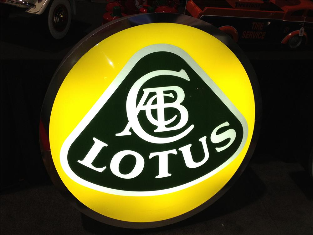 Addendum Item - Impeccable Lotus Automobiles single-sided light up dealership sign. - Front 3/4 - 136553