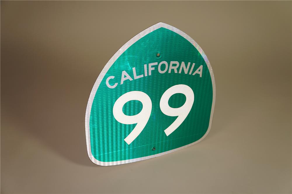 N.O.S. California Highway 99 metal road sign. - Front 3/4 - 138551