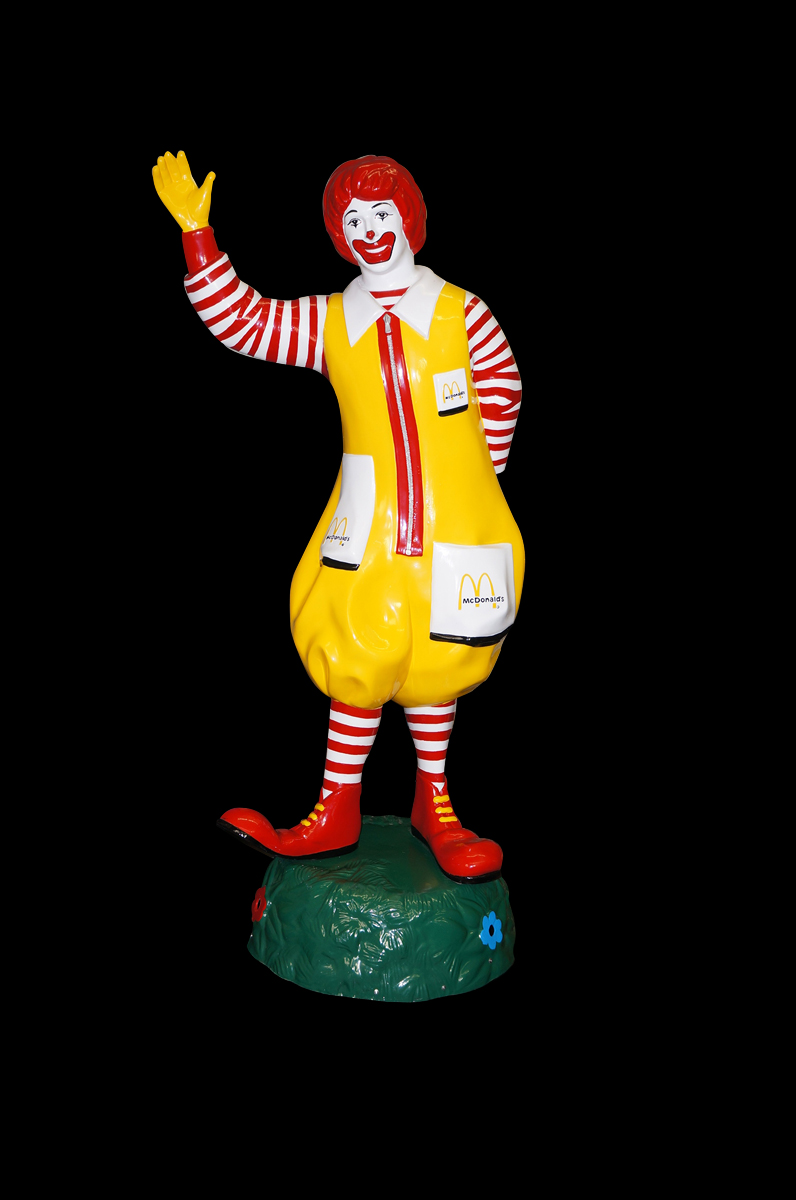 Nicely restored original Ronald McDonald drive-in sign on rotating base. - Front 3/4 - 138596
