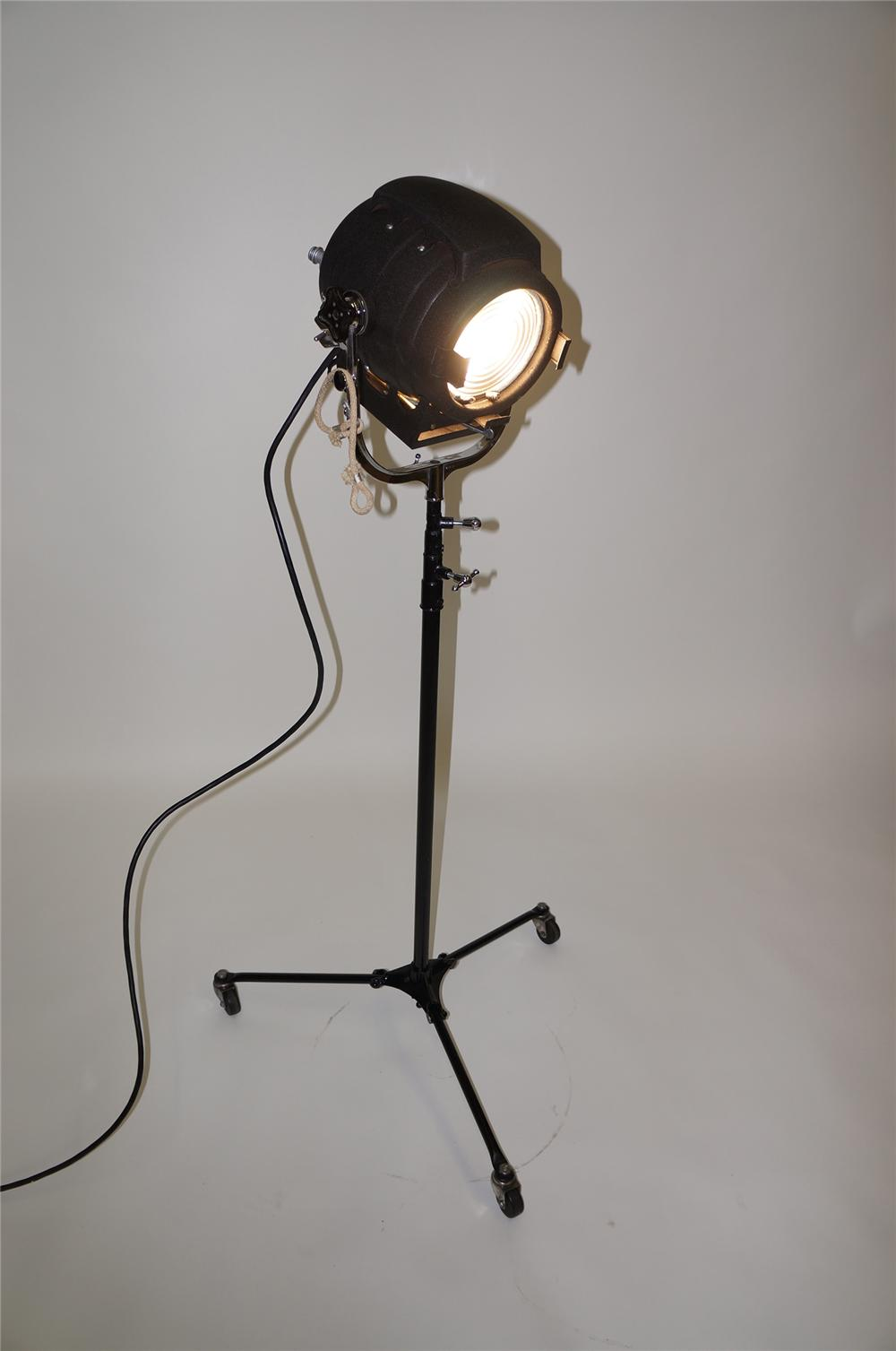 All original 1940s Movie House stage light on stand by Bardwell and McAlister Hollywood California. - Front 3/4 - 138599