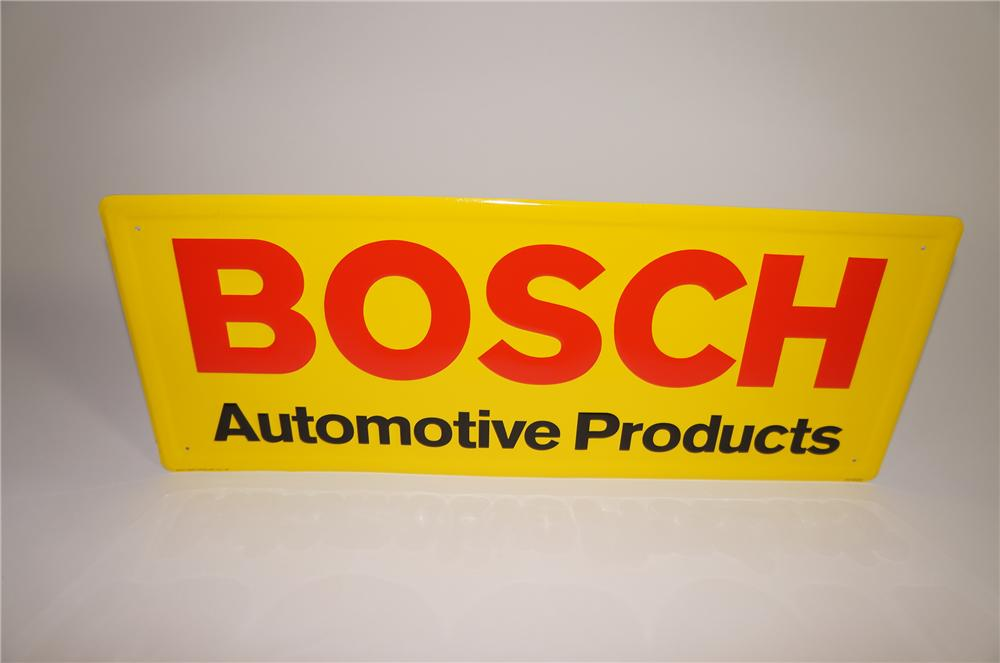 N.O.S. Bosch Automotive Products single-sided embossed tin garage sign. - Front 3/4 - 138630