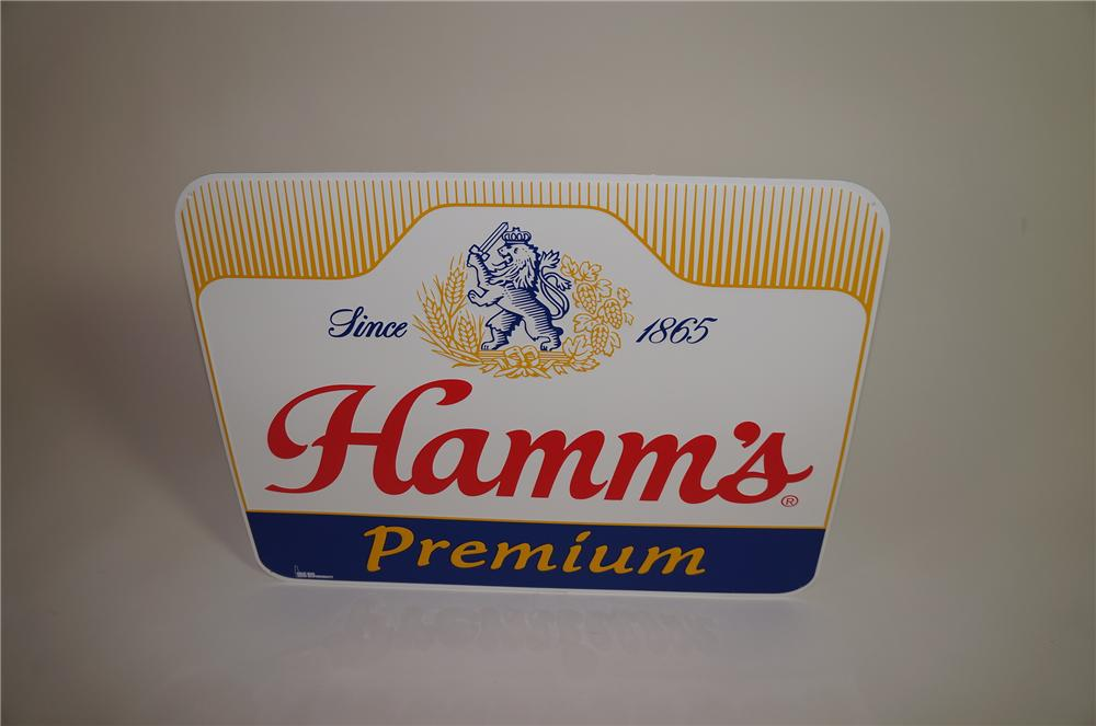 Vintage Hamms Premium Beer horizontal tin tavern sign. - Front 3/4 - 138655