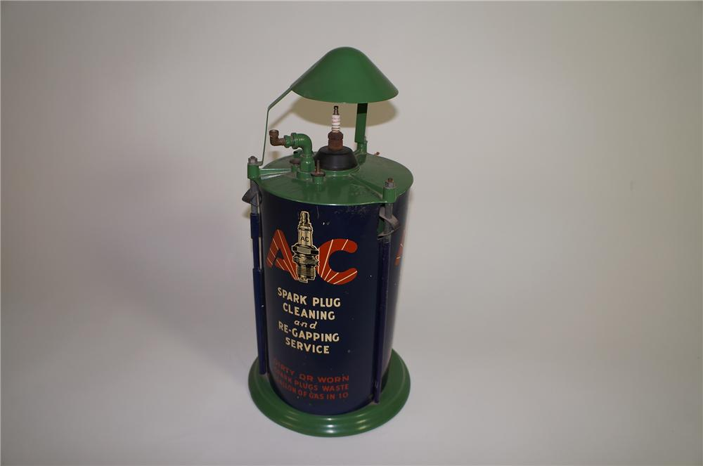 Very clean 1930s AC Spark Plug service department counter-top cleaner/servicer. - Front 3/4 - 138657