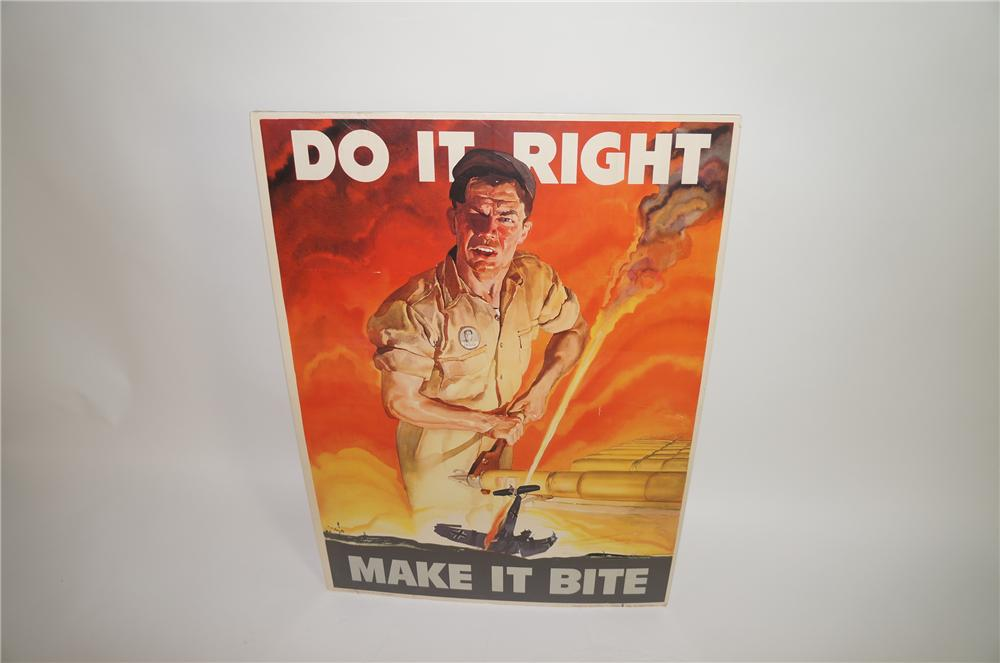 "Historically significant 1942 Army Ordnance Department inspirational poster ""DO It Right - Make It Bite"". - Front 3/4 - 138700"