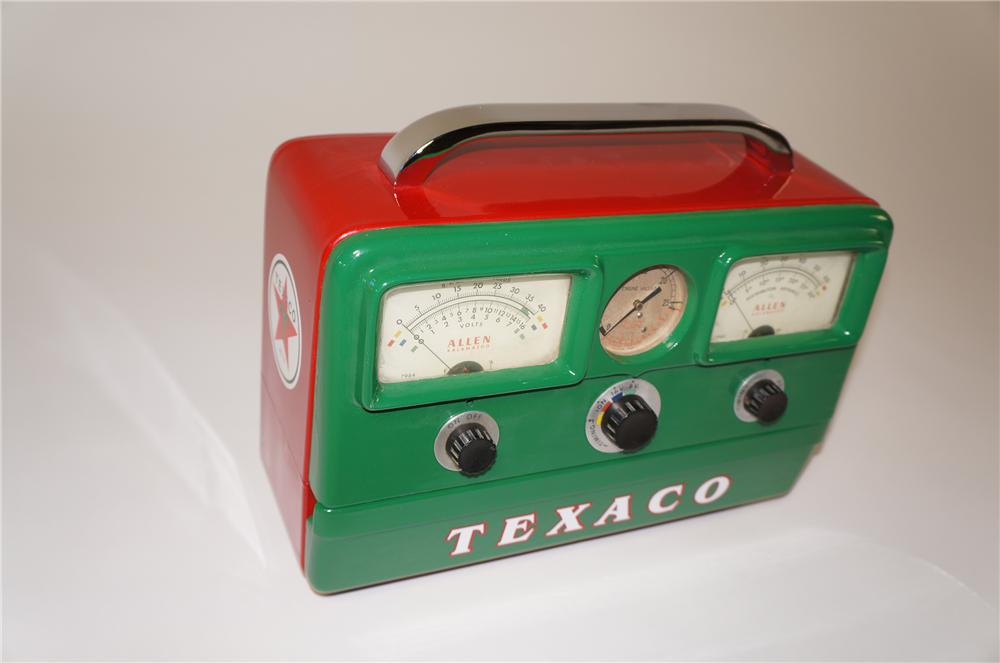 Nifty 1950s aesthetically restored Texaco Oil service department portable engine analyzer by Allen. - Front 3/4 - 138747