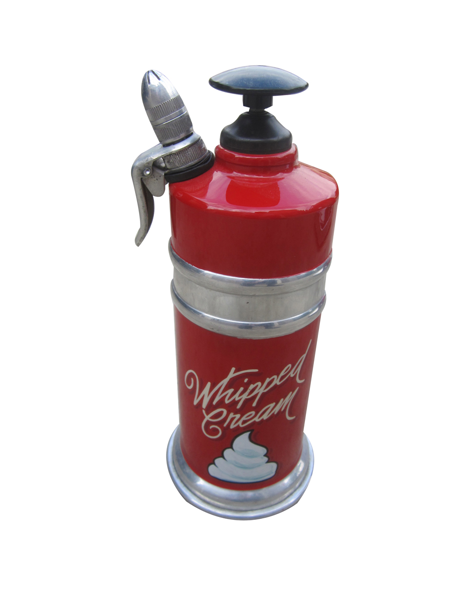 Seldom seen vintage diner hand pump whipped cream dispenser wonderfully restored by McLaren Classic Restorations. - Front 3/4 - 138831
