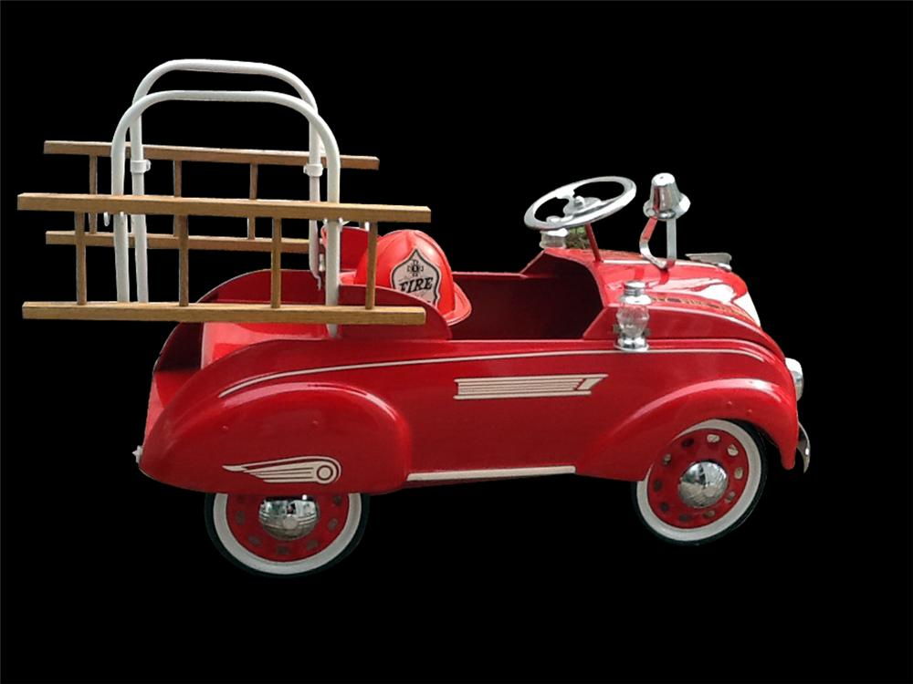 1937 Steelcraft Airflow fire truck pedal car - Front 3/4 - 138835
