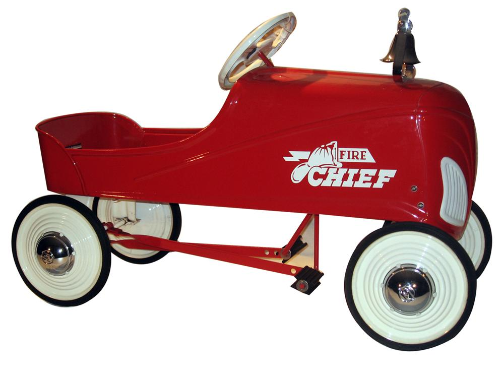 "Restored 1938 Steelcraft ""Ace"" Fire Chief Pedal Car.  cs. - Front 3/4 - 138840"