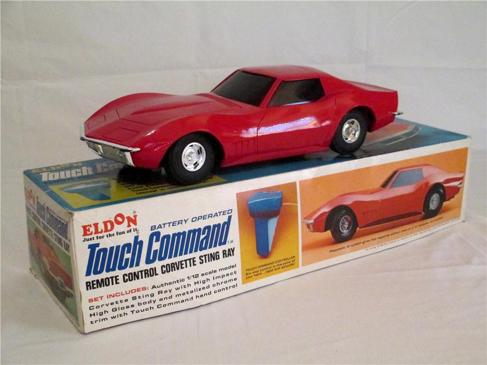 N.O.S. 1968 Eldon Corvette Stingray touch command remote controlled 1/12 scale car. - Front 3/4 - 138848