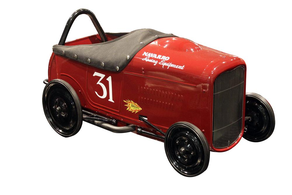 Charity Vehicle - Built by renowned Rod Builder H&H Flatheads, this pedal car is a tribute to automotive Pioneer Barney Nava... - Front 3/4 - 138899
