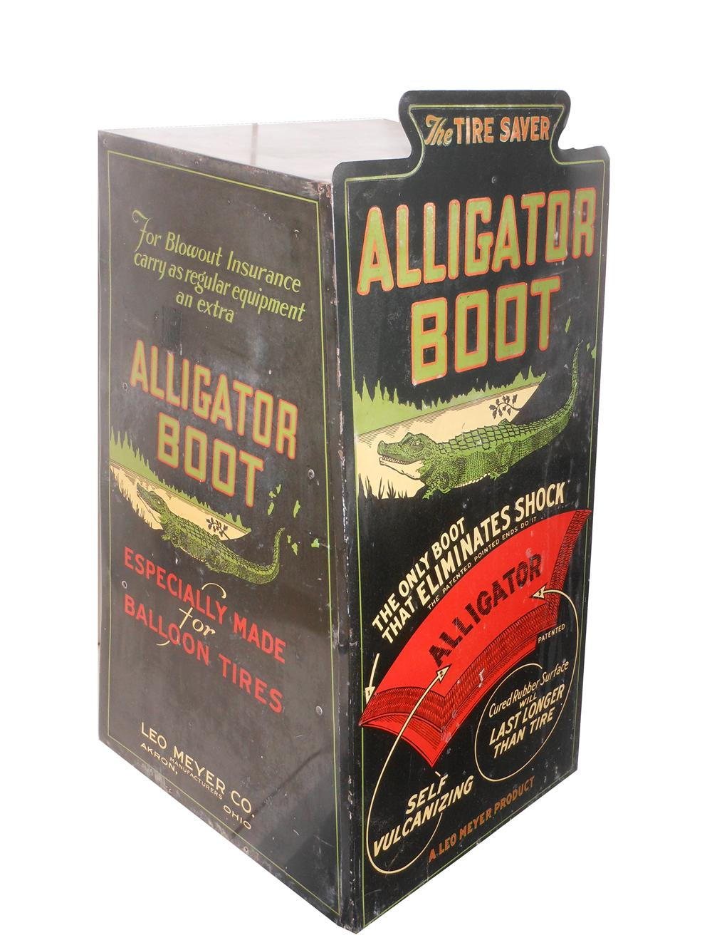 "Rare Alligator Boot ""The Tire Saver"" automotive garage counter-top display cabinet with killer graphics. - Front 3/4 - 138911"