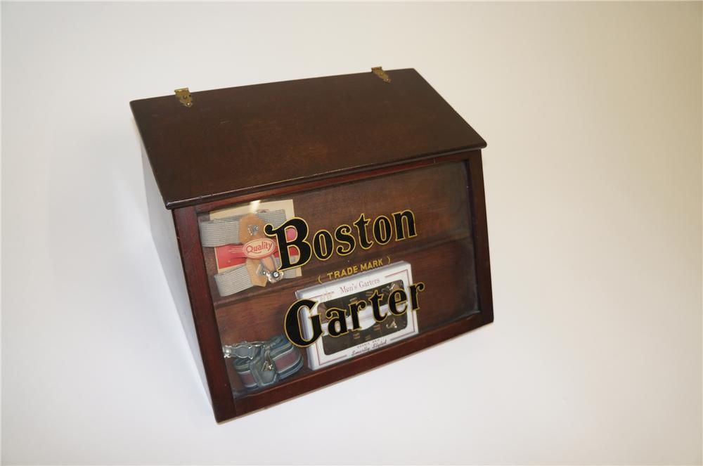 Turn of the century Boston Garter general store counter-top garter display cabinet. - Front 3/4 - 139557