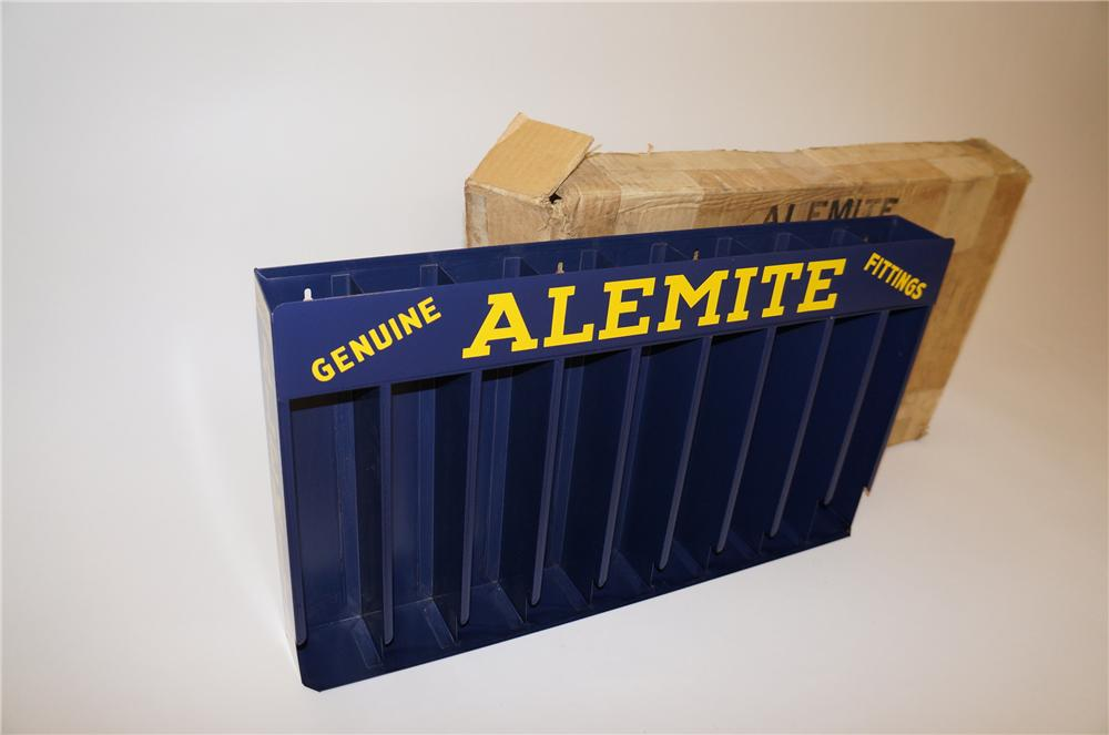 Sharp 1950s Alemite Genuine Grease Fittings automotive garage display cabinet - Front 3/4 - 139606
